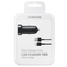 Samsung Fast Charge (18W) CAR CHARGER MINI TYPE-C Cable